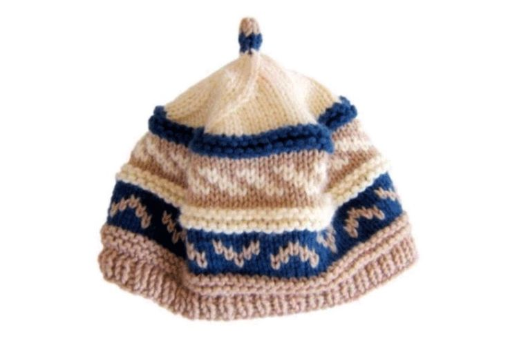 How to knit fair isle pattern beanie cap hat with needles ~ downloadable link...