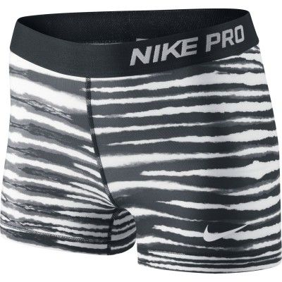 Nike Pro 3 Inch Tiger Short Women's Black & White FA14