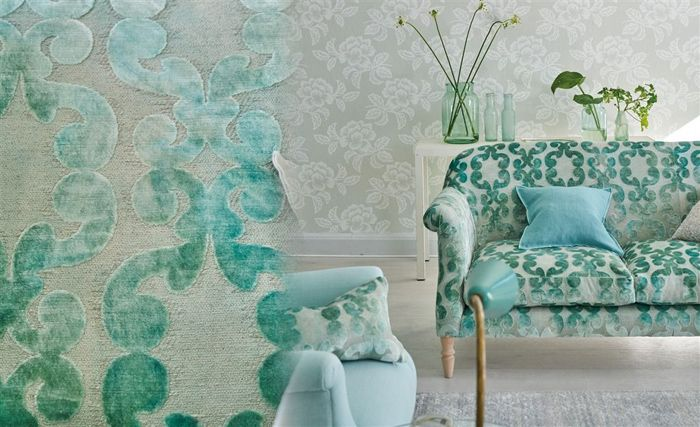spring vibe, fabrics, living room