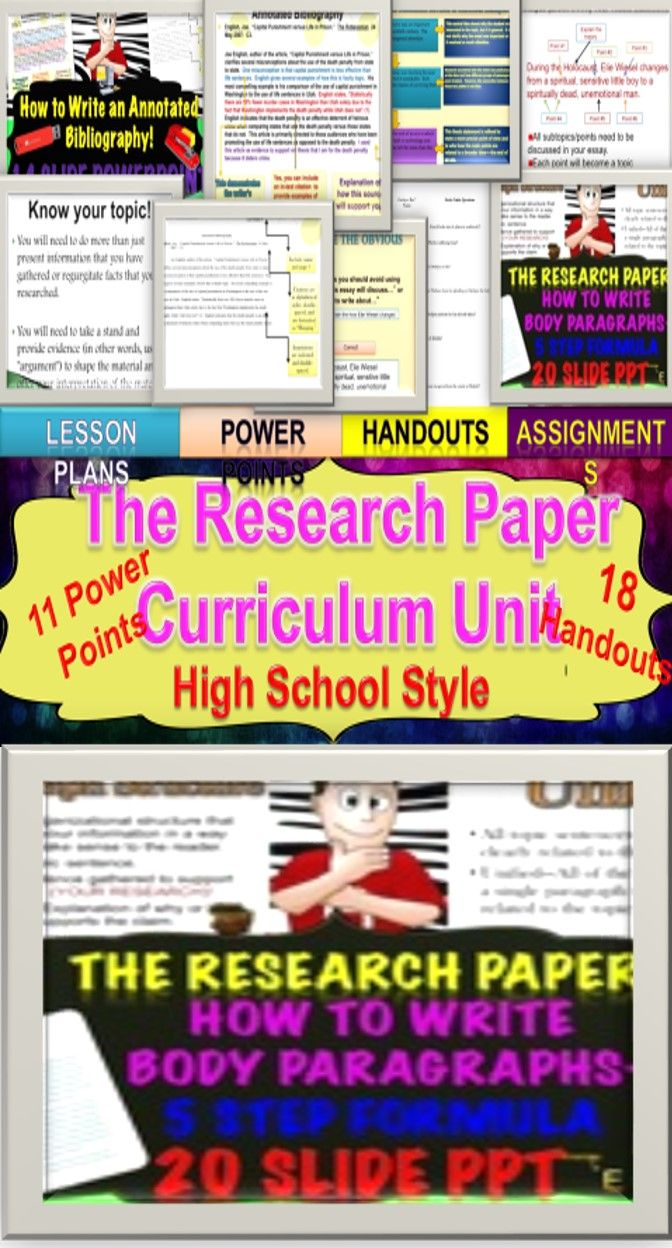 research paper high school lesson plans