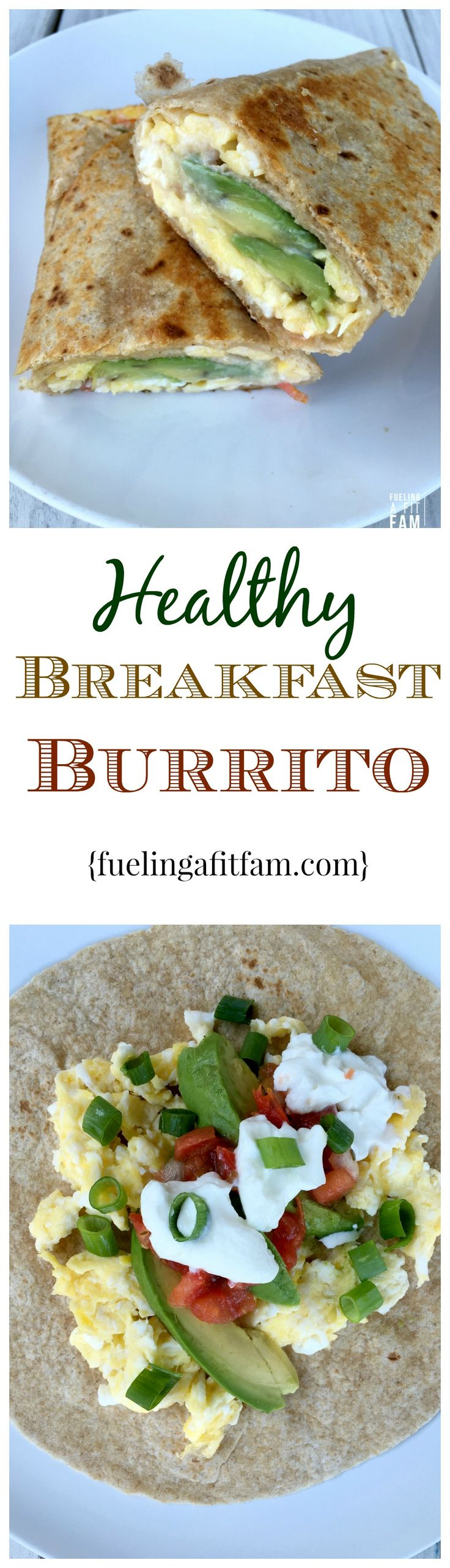 This healthy breakfast burrito is super easy to put together, is a perfect post workout meal and will fill you up!