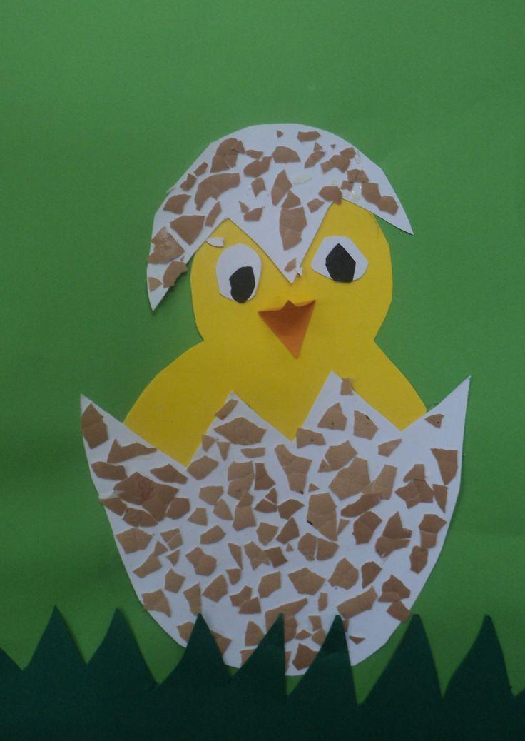 Líhnoucí se kuře - využití vaječných skořápek