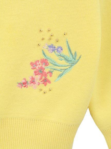 フラワー刺繍スパンコールクルーネックカーディガン(カーディガン) 31 Sons de mode(トランテアン ソン ドゥ モード) ファッション通販 - ファッションウォーカー
