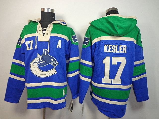 Vancouver CANUCKS 17 Ryan KESLER Lace-Up Jersey Hooded Sweatshirt [2013  Hooded Sweatshirt 045