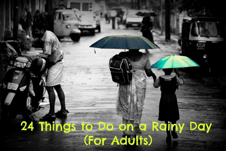 Rainy days don't have to be all gloom and doom. Have fun being stuck inside all day with these 24 easy and cheap activities.