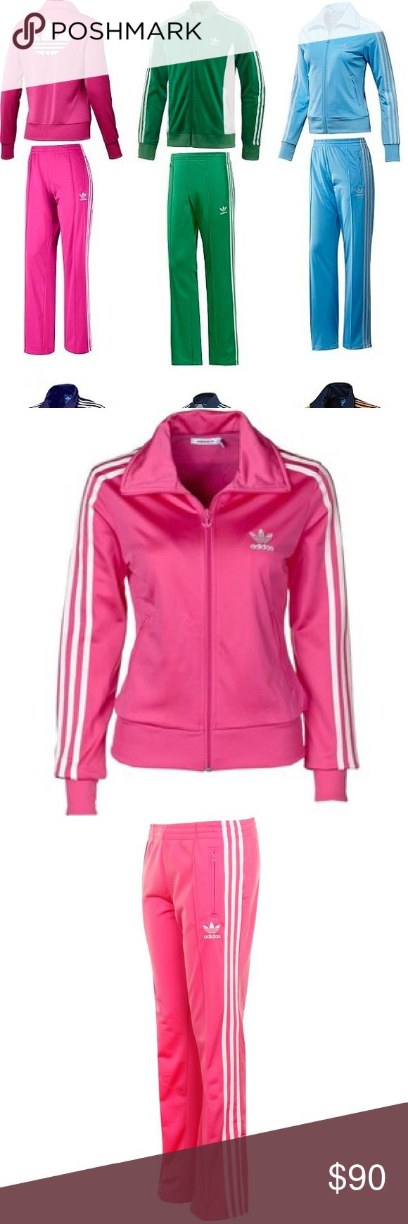 Adidas Classic Firebird Tracksuit Sweatsuit Pink Adidas Classic Firebird Tracksuit Pants & Jacket - RARE  Classic Vintage Firebird, Original Trefoil Design.  Zippers at bottom of legs.  Classic Run DMC Style.  Color - Pink & White. Ladies / Women's - Size Medium M  Key Words - Sweatpants / Sweatsuit / Workout / Yoga / Active / Casual / Hip Hop / 80's / Breakdance/ B Boy Girl / Throwback  Please FOLLOW ME & check out the other items in my closet. BUNDLE & SAVE!! I offer a discount when items…