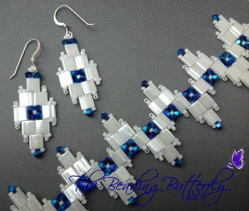 Indigo Glacier Bracelet & Earring Tutorial - Click Image to Close