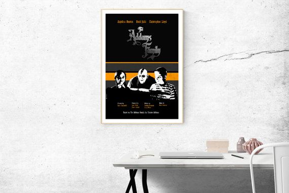 The Addams Family alternative poster in minimalist style. This is a Printed Poster! You can choose the size of the print in the drop down menu. ___________________________  Prints available in sizes: ‣ 8x10 ‣ 12x16 ‣ 16x20 ‣ 18x24 ‣ 24x36  ___________________________  Posters quality: Museum-quality poster made on thick, durable, matte paper. Poster comes without frame or borders. ___________________________  Check out our store for more original posters: https://www.etsy.com/...