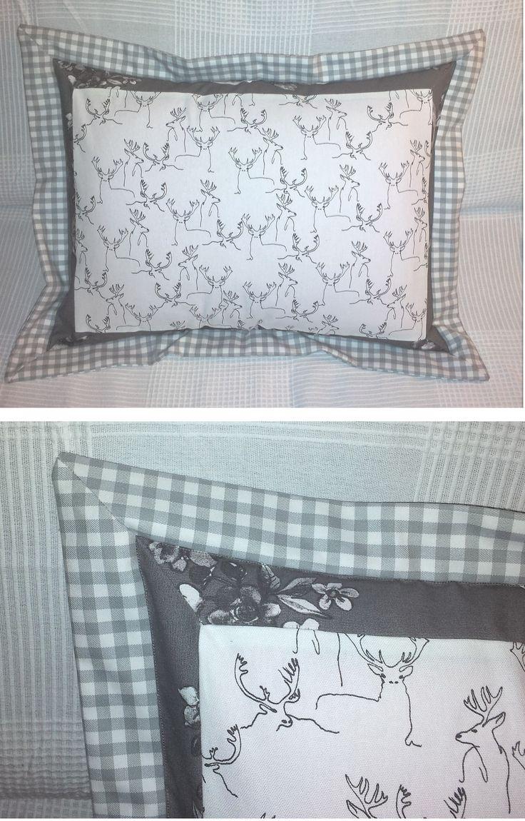powłoczka na poduszkę z obramowaniem i ukośnymi narożnikami/ pillowcase with miter borders
