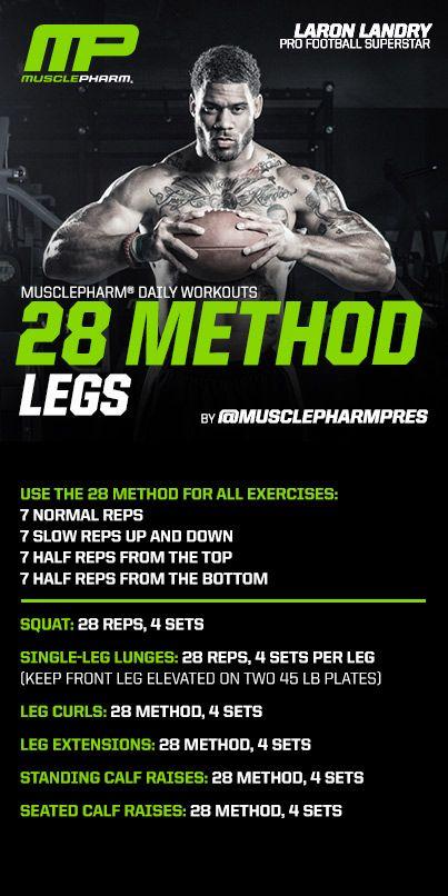 28 Method Legs #MusclePharm