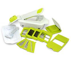 MegaChef 8-in-1 Multi-Use Slicer Dicer and Chopper with Interchangeable Blades, Vegetable and Fruit D970-MG-MULTI-SLICER-DICER