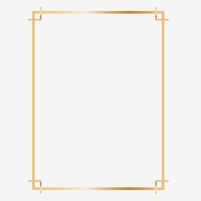 Golden Rectangle Frame Design Clipart Png Rectangle Rectangle Frame Rectangle Gold Frame Png And Vector With Transparent Background For Free Download Frame Clipart Vintage Floral Backgrounds Wedding Frames