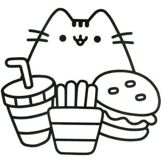 Pretty Cute Pusheen Coloring Page Pusheen Coloring Pages Cat Coloring Page Kitty Coloring