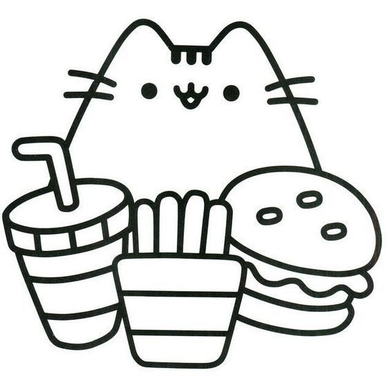 Oh So Cute Kitty Pusheen The Cat Coloring Pages For Girls Seni