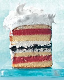No celebration is complete without a sweet treat to top it off. When the heat rises outside, stay cool in the kitchen with our selection of no-bake desserts. These recipes are a snap to make, easy to enjoy, and completely oven-free!: Pound Cakes, Eggs White, 7Layer, 7 Layered Ice, Cakes Recipes, Ice Cream Cakes, No Baking Desserts, Martha Stewart, Icecream