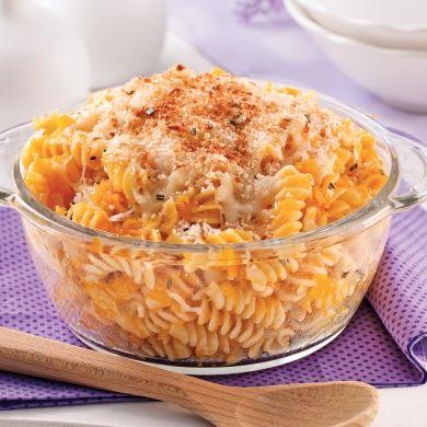 Gratin de pâtes et de courge Butternut - Recettes - Cuisine et nutrition - Pratico Pratiques