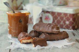 κουλουράκι δάχτυλα με καραμέλα και σοκολάτα