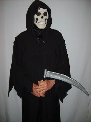 Grim Reaper (Aids Campaign 1987) available to hire fits most sizes