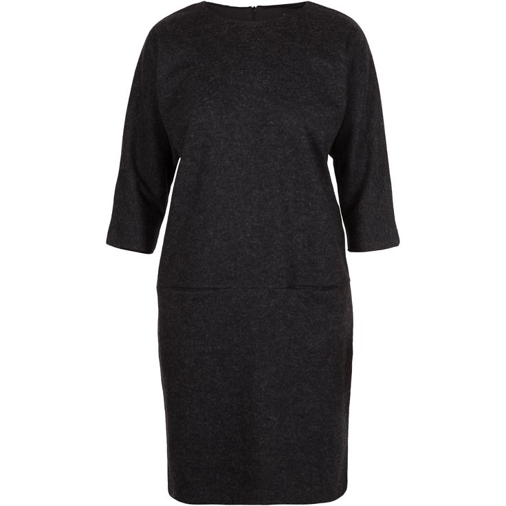 Gemini wool dress #soft #warm #dark #dress #winter #pretty #wool #fashion