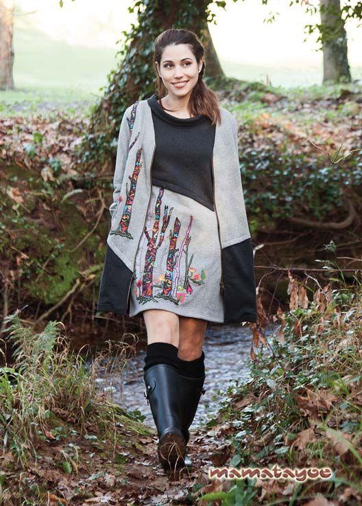 Dress: Nemorosa / Coat: Borbonesa. www.mamatayoe-shop.com