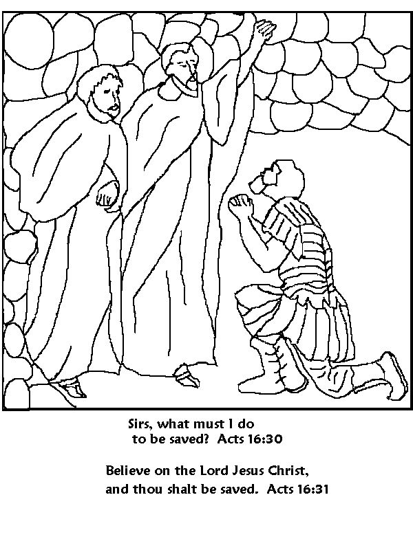 Paul And Silas Coloring Page