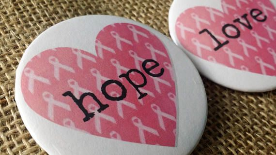 These buttons are the perfect gift for someone battling cancer or for survivors.  This listing is for a set of 2 buttons.  Check out our other buttons or contact us for a custom button! https://www.etsy.com/shop/HandschumakerRoad?ref=seller-platform-mcnav&section_id=21856391