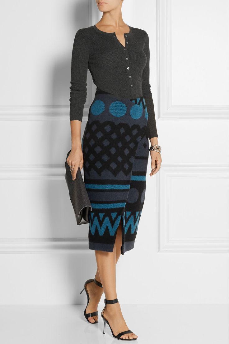 Michael Kors top, Burberry Prorsum skirt, Gianvito Rossi shoes, Maison  Martin Margiela bag