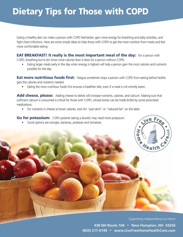 Dietary Tips for Those with COPD #COPD #caregiving