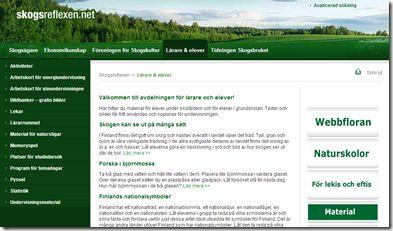 Hos finska Skogsreflexen finns mycket material och inspiration (på svenska) för arbete med naturen och för uteundervisningen. även i sverige.  Det jag vill tipsa om nu är deras arbetskort samt deras undervisningsmaterial.