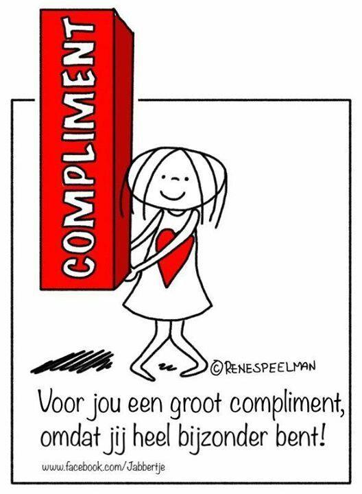 Voor jou een groot compliment omdat jij heel bijzonder bent! #jabbertje