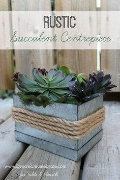 How cute!!!!  Just a few simple items turn this little galvanized box into a…