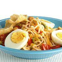 Recept - Noodles met zoetzure groenten en ei - Allerhande