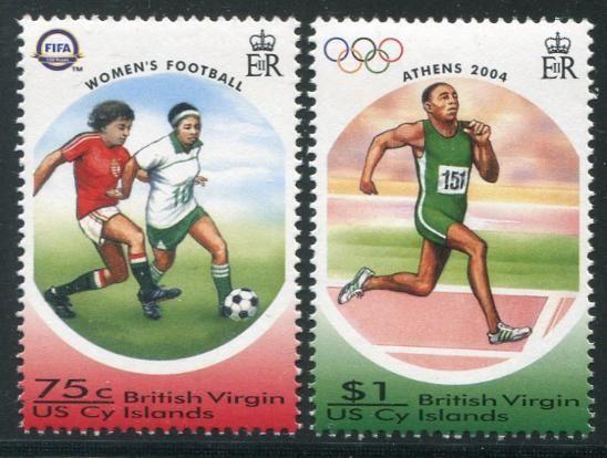Virgin Islands 2004 Olympics & FIFA Soccer Stamps