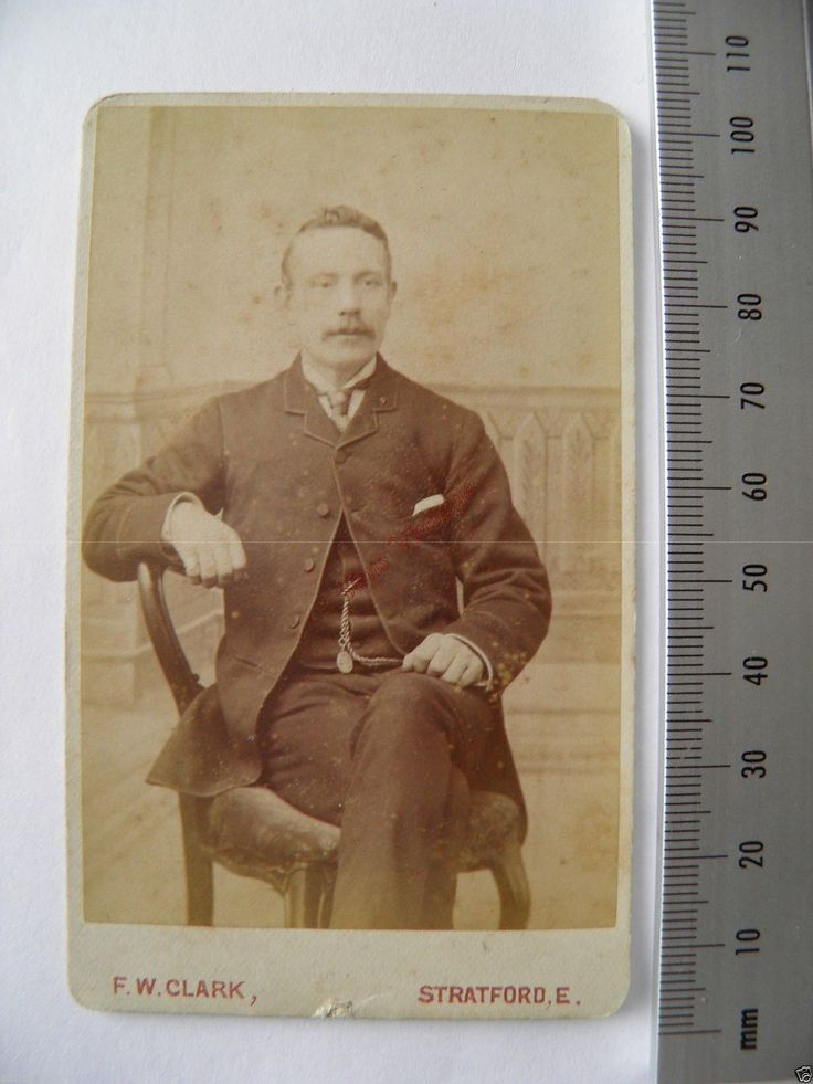 Old CDV F2 Photo by F w Clark Stratford London Seated Victorian Man 17   eBay