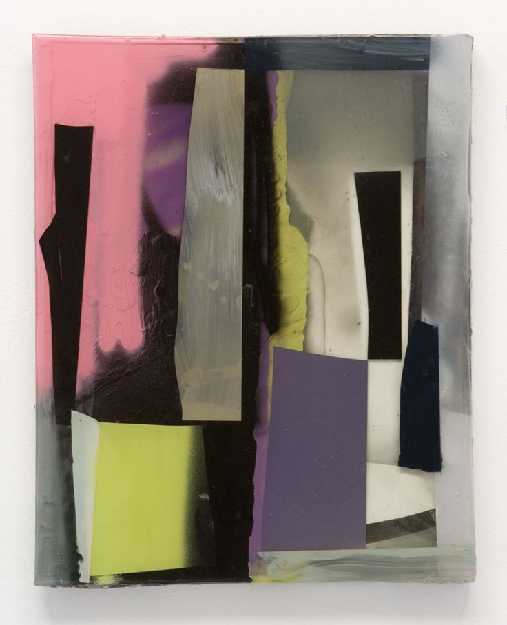 Stefan Annerel RAY 2006 Acrylic paint, resin and glass on wood 56 x 41 cm