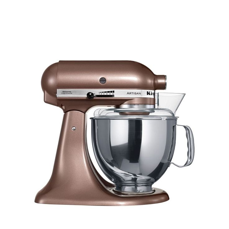 Choose from many different colors of the KitchenAid  Artisan  Series Tilt-Head Stand Mixer for the one that perfectly matches your kitchen design or personality. Easily make your favourite cakes and multiple batches of cookie dough with the 5-quart stainless steel mixing bowl with comfortable handle. With 10 speeds, the standmixer will quickly become your kitchen's culinary center as you mix, knead and whip ingredients with ease. And for even more versatility, the power hub fits optional...