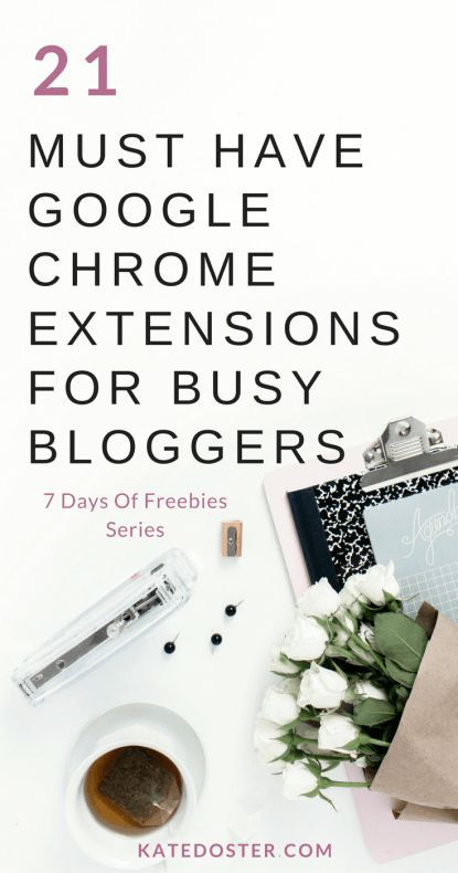 Best google Chrome extensions for busy bloggers and online #business owners! // Kate Doster