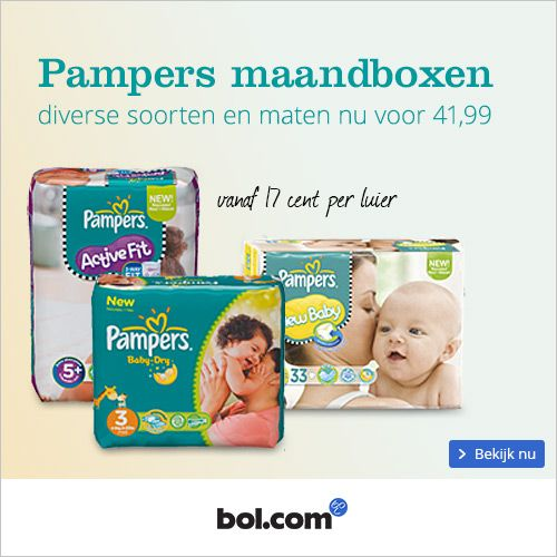 Pampers maandbox actie december 2014