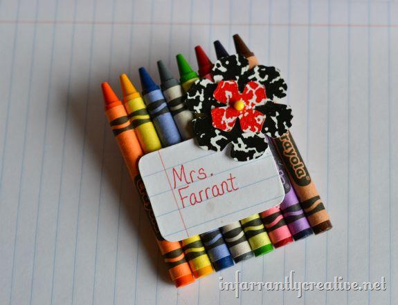 Creative Crayon Teacher Name Tag - Make and Takes