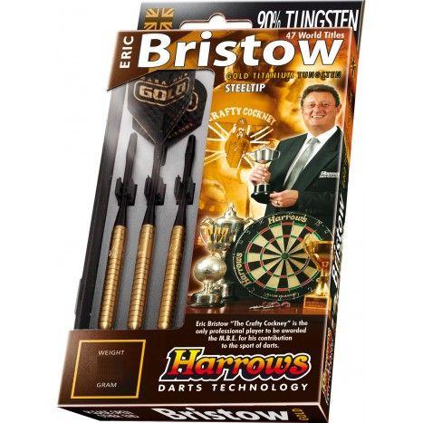 De kwalitatief uitstekende Eric Bristow Gold 90% Tungsten Steeltip #dartpijlen van #Harrows #Darts. Vernoemd naar dartskampioen Bristow. #dws