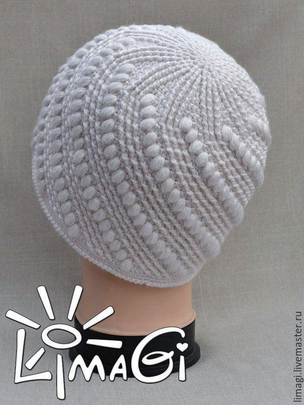 """Купить Шапочка """"Ожерелье"""" - описание - шапочка для девочки, шапка женская, шапка вязаная, шапочка крючком"""