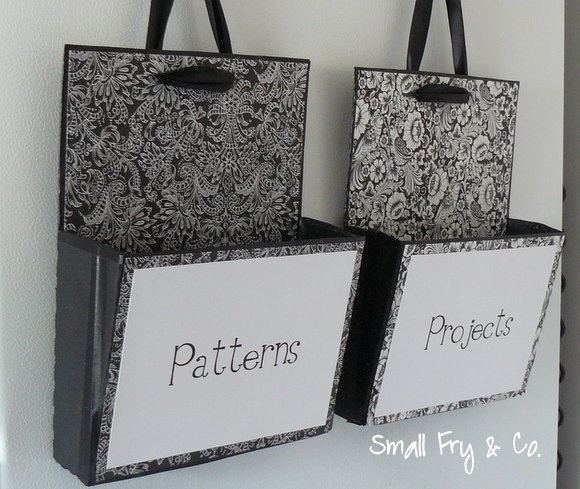 Hanging File Boxes Repurposed from Cardboard Crates