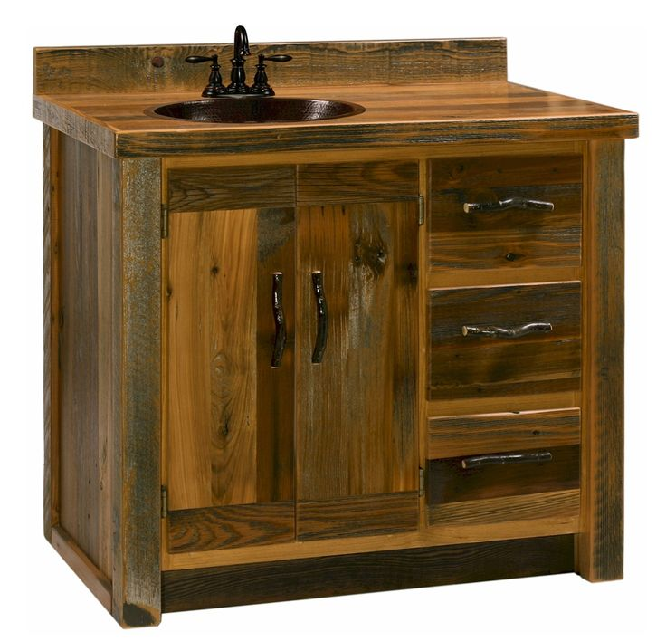 Reclaimed Barn Wood Vanity Cabinet Recycled Wood Vanity