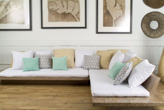 Simple wooden bed-sofa