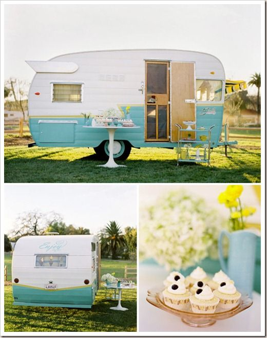 You know what would be so sweet? Traveling around the place and making yummy food out of my cute caravan and then inviting heaps of people in to enjoy the cuteness of it all!!