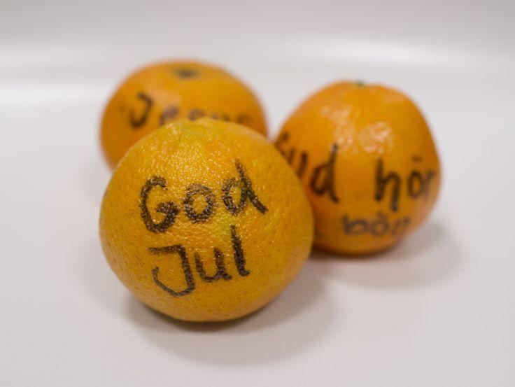 Gör som Ny Generation på Sundlergymnasiet och dela ut personliga clementiner!