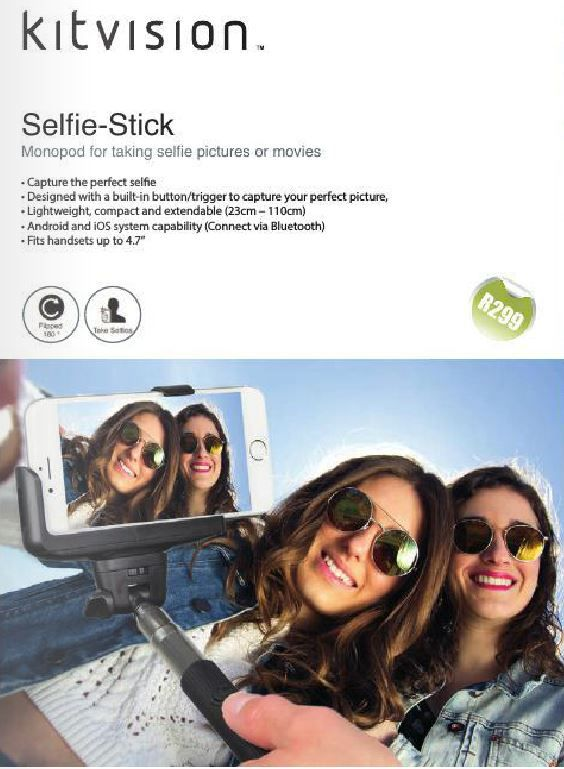 Get ready for summer with your very own Selfie Stick. Don't say we didn't warn you guys