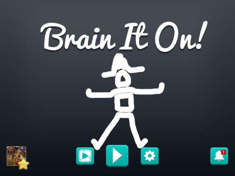 "Brain It On! ""Deceptively challenging puzzles for your brain."" Draw shapes to solve challenging puzzles.  by Orbital Nine"