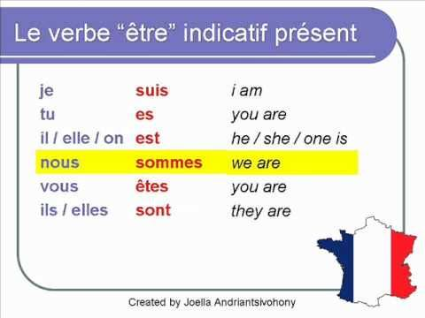être verb in present--slow with time to repeat