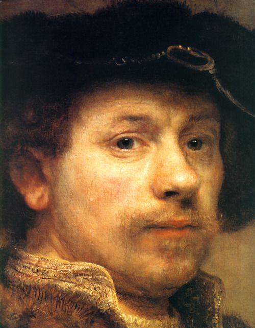 1640 Rembrandt Autoportrait à la chemise brodée
